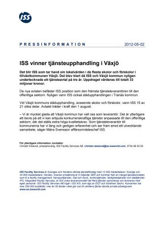 ISS vinner tjänsteupphandling i Växjö