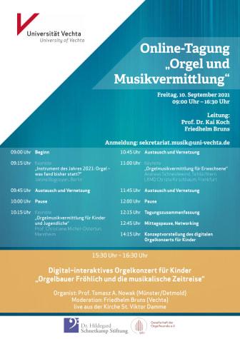 Plakat | Online-Tagung: Orgel und Musikvermittlung