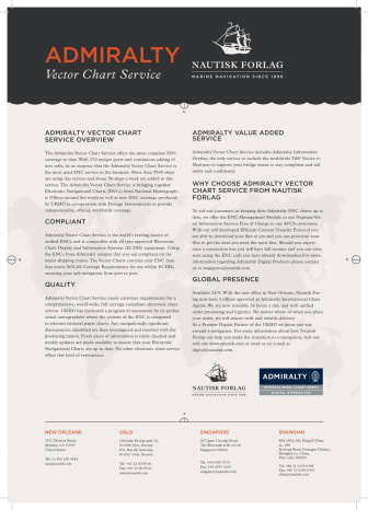 Nautisk Forlag - Admiralty Vector Chart Service
