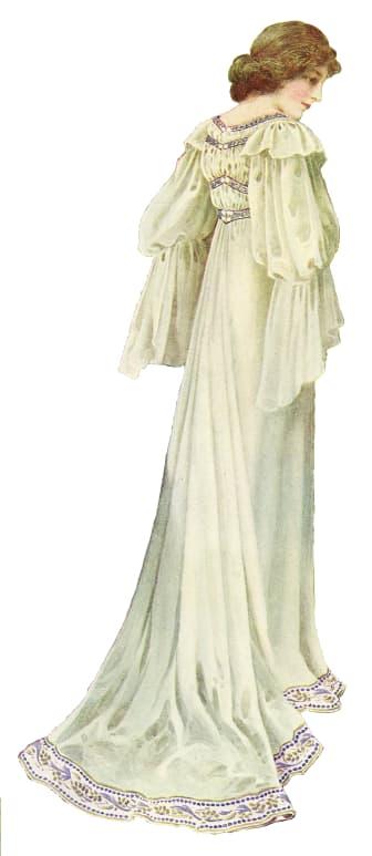 Klänningsskiss från Liberty (frilagd)