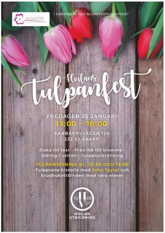 Inbjudan till tulpanfest på Hvilan