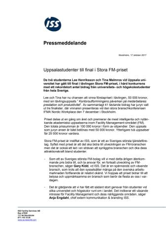 Uppsalastudenter till final i Stora FM-priset