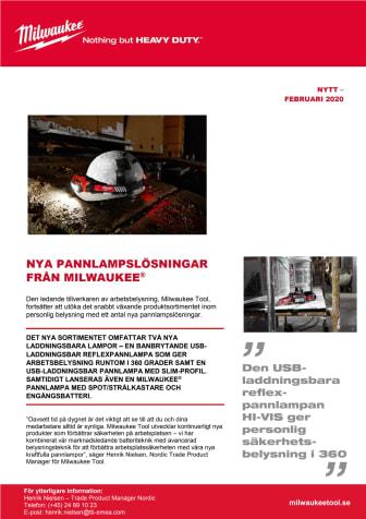 NYA PANNLAMPSLÖSNINGAR  FRÅN MILWAUKEE®