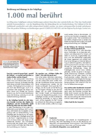 1.000 mal berührt: Berührung und Massage in der Fußpflege
