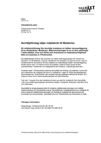 Norrtäljeföretag säljer miljöteknik till Moldavien