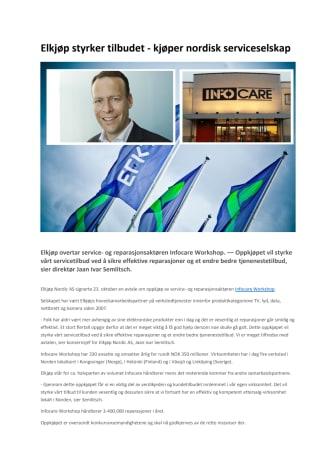 Elkjøp styrker tilbudet - kjøper nordisk serviceselskap