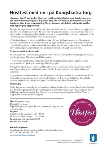Höstfest med riv i på Kungsbacka torg