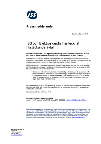 ISS och Elektroskandia har tecknat rikstäckande avtal
