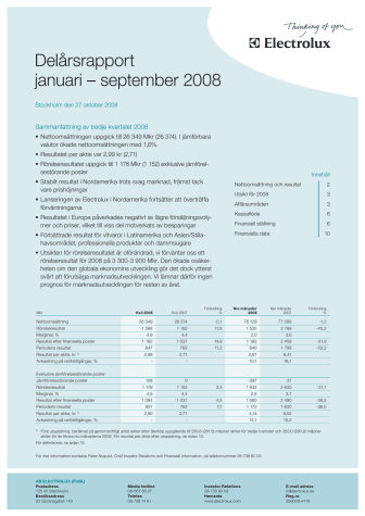 Delårsrapport januari - september 2008