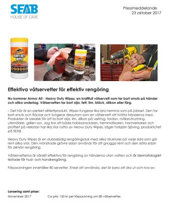 Effektiva våtservetter för effektiv rengöring