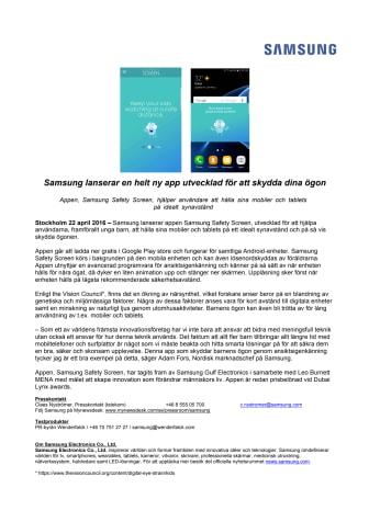 Samsung lanserar en helt ny app utvecklad för att skydda dina ögon