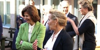 Drottning Silvia besöker Norrtälje sjukhus