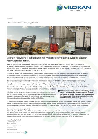 Pressr_Vilokan Recycling Tech_Volvo Construction Equipments_20200126