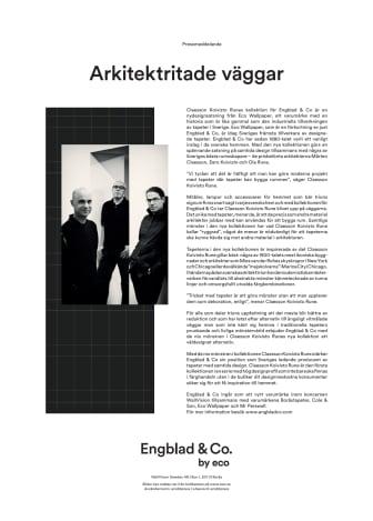 CLAESSON KOIVISTO RUNE for Engblad & Co.
