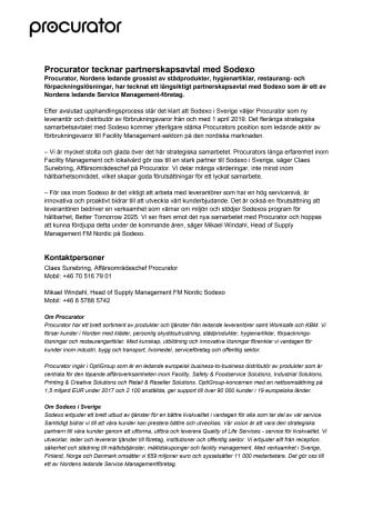 Procurator tecknar partnerskapsavtal med Sodexo