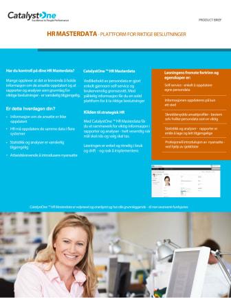 CatalystOne HR Masterdata - kilden til strategisk HR