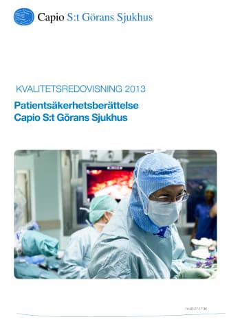 Patientsäkerhetsberättelse för 2013 publicerad