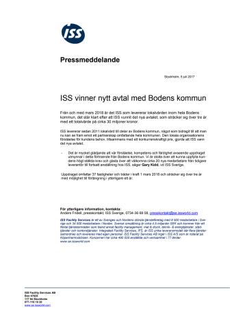 ISS vinner nytt avtal med Bodens kommun