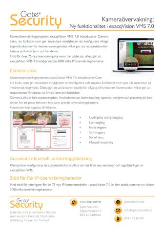 Kameraövervakning: Ny funktionalitet i exacqVision VMS 7.0