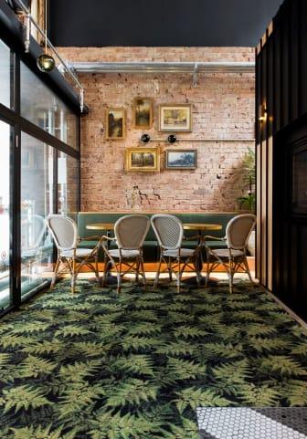 Golvtrender 2020; Textilgolv Highline Nature, botanic green, ege