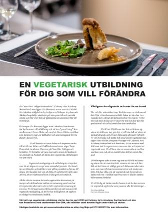 En Vegetarisk utbildning för dig som vill förändra