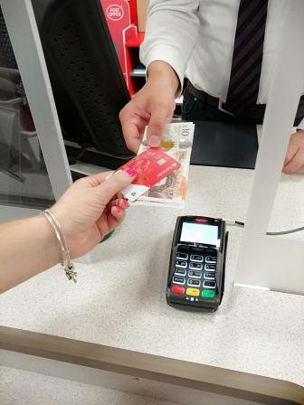 Banking at Post Office