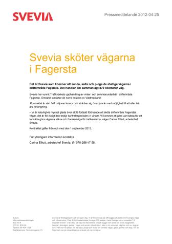 Svevia sköter vägarna i Fagersta