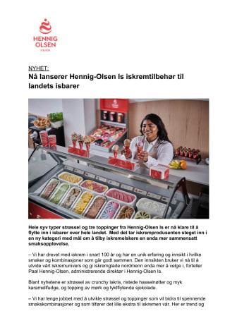 NYHET: Nå lanserer Hennig-Olsen Is iskremtilbehør til landets isbarer
