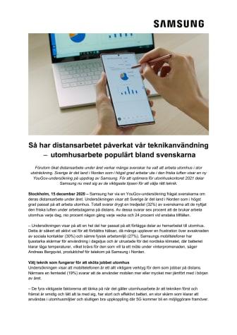 Så har distansarbetet påverkat vår teknikanvändning – utomhusarbete populärt bland svenskarna