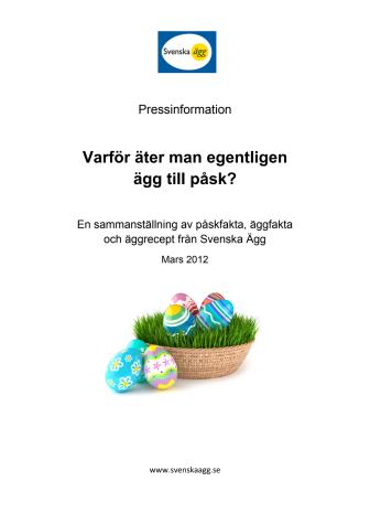 Fakta - Varför äter man egentligen ägg till påsk?