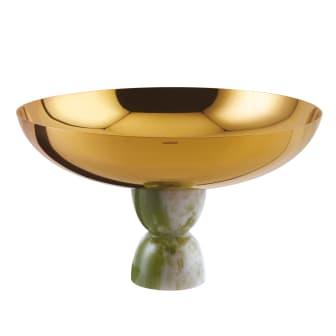 SBT_Madame_Schale_auf_Fuss_26cm_PVD_Gold_Kunstharz_Jade_grün