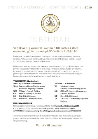 Information från Södertälje Ridklubb