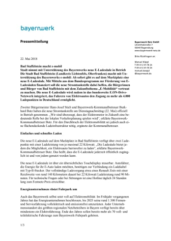 Bad Staffelstein macht e-mobil