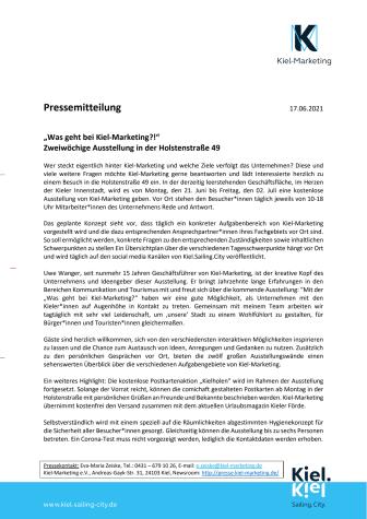 Was geht bei Kiel-Marketing? Ausstellung in der Innenstadt beantwortet Fragen