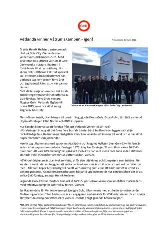 Vetlanda vinner VåtrumsKampen - igen!