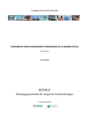 Europakommissionens rapport om avfallshantering