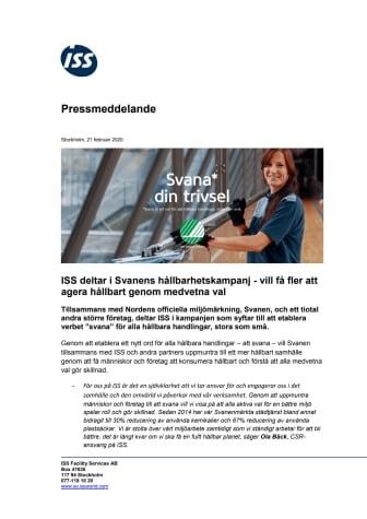 ISS deltar i Svanens hållbarhetskampanj - vill få fler att agera hållbart genom medvetna val