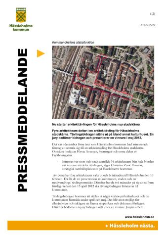 Nu startar arkitekttävlingen för Hässleholms nya stadskärna