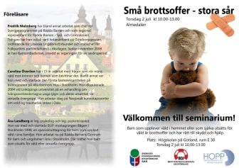 BOJ, SKR och HOPP kräver stärkta rättigheter för utsatta barn