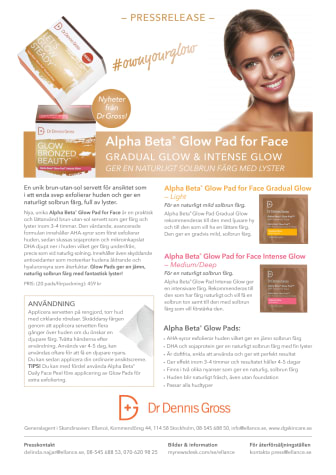 Dr Dennis Gross Skincare lanserar nya  Alpha Beta® Glow Pad - Gradual Glow och Intense Glow