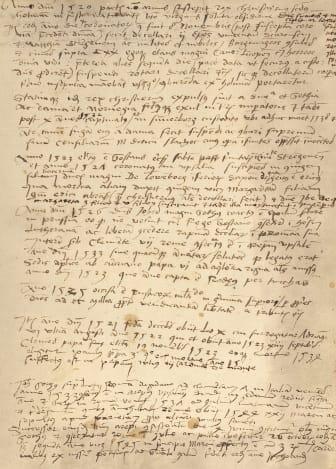 Olaus Magnus handskrivna skildring av Stockholms blodbad
