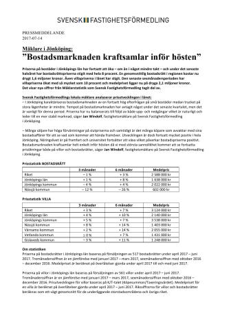 """Mäklare i Jönköping: """"Bostadsmarknaden kraftsamlar inför hösten"""""""