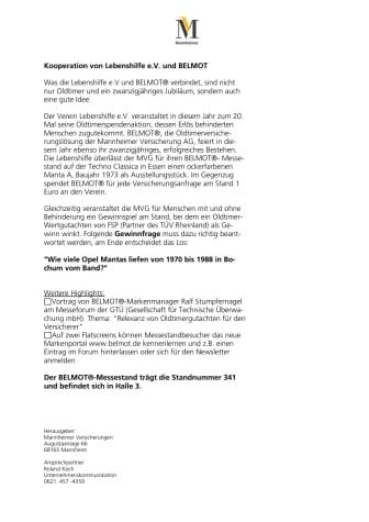 Kooperation von Lebenshilfe e.V. und BELMOT