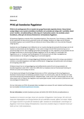 PFAS på Swedavias flygplatser