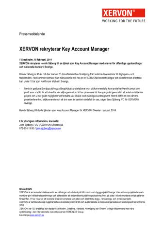 XERVON rekryterar Key Account Manager