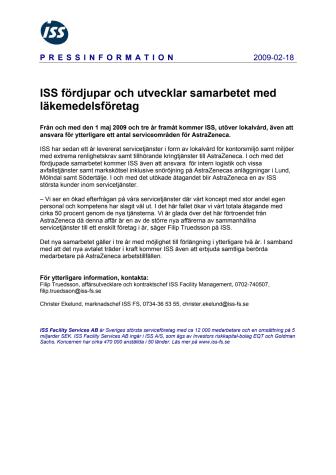 ISS fördjupar och utvecklar samarbetet med läkemedelsföretag