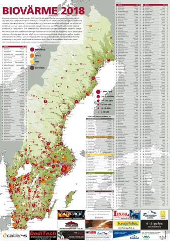 Bioenergis karta: Biovärme 2018