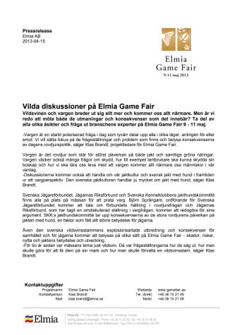 Vilda diskussioner på Elmia Game Fair