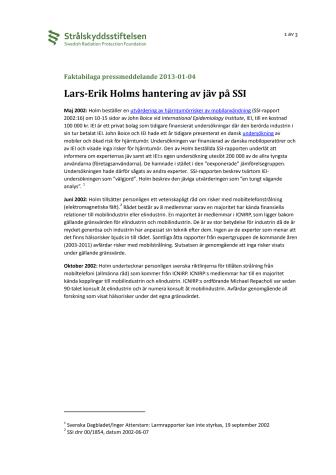 Faktabilaga pressmeddelande 2013-01-04