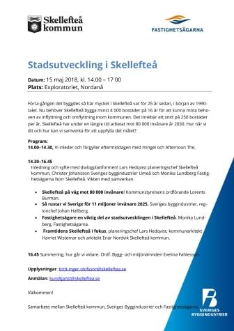 Inbjudan - Stadsutveckling i Skellefteå